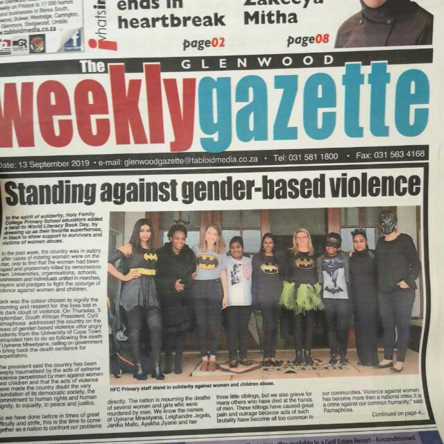 Glenwood Weekly Gazette:  Supporting Gender Violence