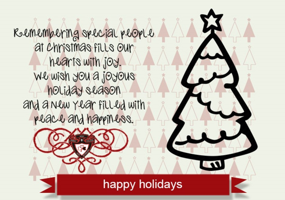 Happy & Safe Holiday Wishes!